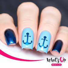 anchor stencils for nail art