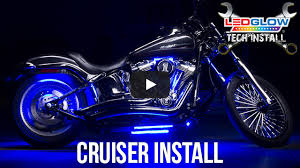 classic white led motorcycle accent light kit