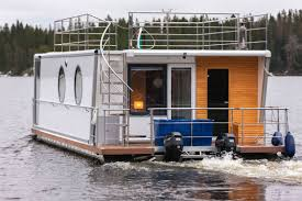 catamaran houseboat outboard double terrace deck 6 person