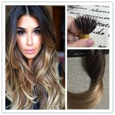 ombre extensions shine nano hair extensions ombre color 2 fading to 6 and