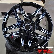 mercedes amg black rims 20 5 spoke style gloss black wheels rims fits mercedes ml gl gl63