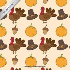 thanksgiving pattern vector free