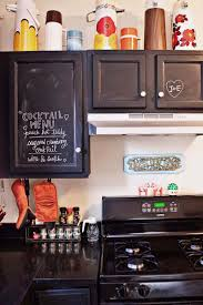 chalkboard paint on kitchen cabinets great for if you spend a lot
