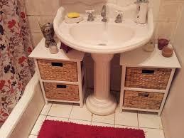 Media Storage Pedestal Organize The Space Under The Bathroom Sink Life Creatively