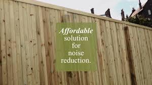 forest garden decibel noise reduction panel youtube