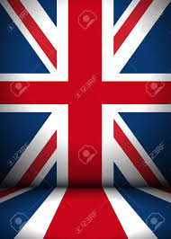 Great Britain Flag The Stage Is Decorated With Great Britain Flag Vector Background