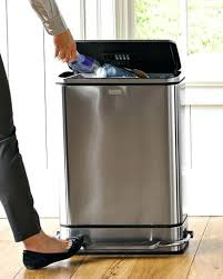 Wooden Kitchen Garbage Cans by Stainless Steel Trash Can 13 Gallon Lowes Walmart Plastic Kitchen