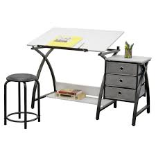 Artist Drafting Table Studio Designs Comet Center With Stool Hayneedle