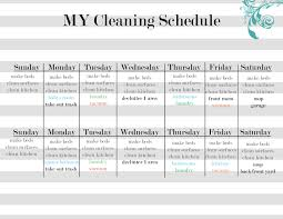 Bathroom Cleaning Schedule Form Printable House Cleaning Schedule Template