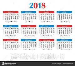 Kalendář 2018 Svátky 2018 Ročního Kalendáře Americká Barvy Svátky Měsíc A Počet