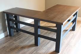 L Shape Wood Desk by Handcrafted Industrial L Shaped Executive Desk Heartland Rustics