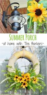 summer sunflower wreath small porches porch makeover and