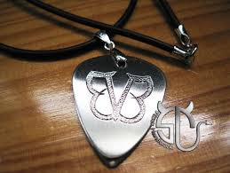 stainless steel guitar necklace images Wholesale rock band black veil brides logo stainless steel guitar jpg
