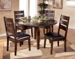 dining room modern round wooden dining room table with brown