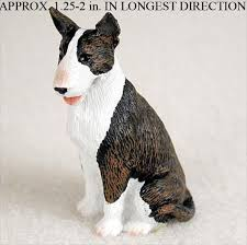 bull terrier mini resin painted figurine statue brindle