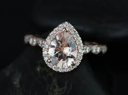 morganite pear engagement ring rosados box sydney 9x7mm gold pear morganite and diamonds