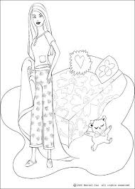 barbie u0027s bed coloring pages hellokids