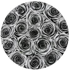 silver roses small box silver silver eternity roses
