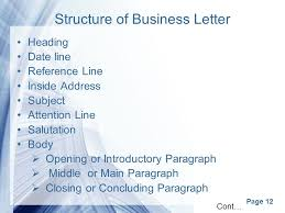 letter with attention line and subject line page 1 business correspondance page 2 correspondence business