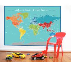 big world map etsy world map sticker adventure nursery decor baby room for play