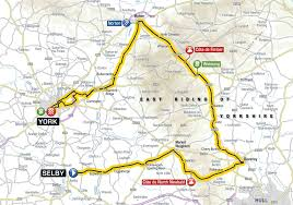 Yorkshire Map Blazing Saddles York To Star In New Tour De Yorkshire Cycle Race