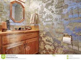 unique half bathroom with sailor wall paper stock photo image unique half bathroom with sailor wall paper stock photo image