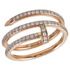cartier rings images Cartier juste un clou rose gold and diamond ring for sale at 1stdibs jpg