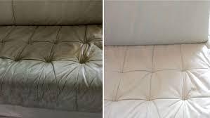 nettoyer canapé cuir beige nettoyage de canapé matelas tout fresh