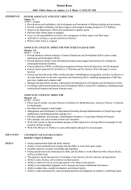 resume template administrative w experience project 2020 uc associate athletic director resume sles velvet jobs