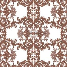 vintage rococo ornament pattern vector damask decor royal
