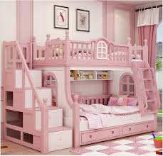 Luxury Bunk Beds Made To Order Beautiful Pink Luxury Bunk Bed With Storage 895 00
