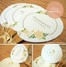 wedding paper fans free printable personalized wedding paper fans botanical