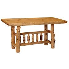 Log Dining Room Tables Counter Height Rectangular Log Dining Table