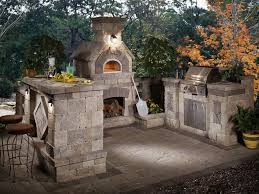 backyard kitchens and fireplaces incredible ideas outdoor