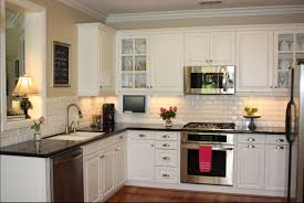 kitchen subway tile backsplashes kitchen opulent small kitchen with hardwood cabinet set also