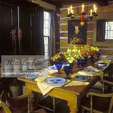primitive dining room furniture dining room mid 19th century plank table chink and log walls