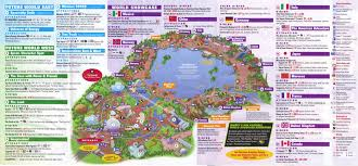 Map Of Downtown Disney Orlando by Epcot Guidemaps