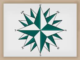 Draw A Radius On A Map How To Draw A Compass Rose 12 Steps With Pictures Wikihow