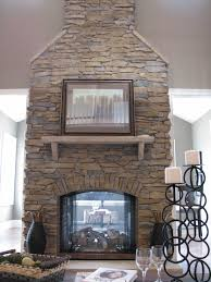 Sunken Kitchen Exactly What I Want Floor To Ceiling Stone Fireplace With See
