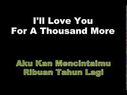 a thousand years perri lyrics terjemah