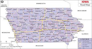 map us iowa road map