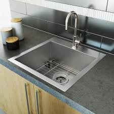 Stainless Steel Sink Single Bowl Square Corners Plumbing Artika - Square sinks kitchen