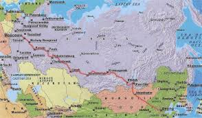 Ural Mountains On World Map by Moscow To Siberia