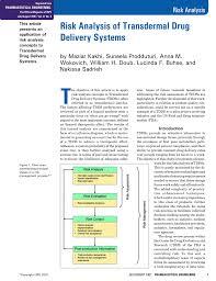 risk analysis of transdermal drug delivery systems