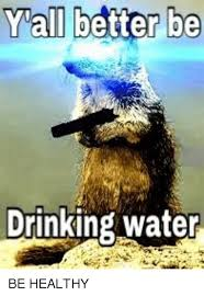Drinking Water Meme - yall better be drinking water drinking meme on me me