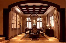 Dining Room Ceiling European Style Dining Room Ceiling And Curtains Design