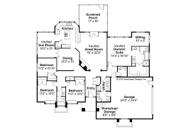 House Plans With Vaulted Great Room by Contemporary House Plans Sedalia 10 231 Associated Designs