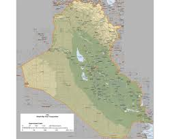 Arizona Elevation Map by Maps Of Iraq Detailed Map Of Iraq In English Tourist Map