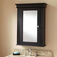 Wooden Mirrored Bathroom Cabinets Furniture Simple Rectangle Black Wood Mirror Cabinet Furniture