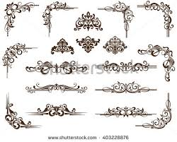 decorative ornament frame set free vector stock